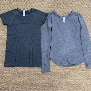 2 Ivivva grey tops!